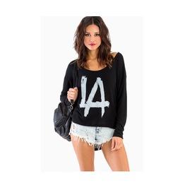 Women's La Black Long Sleeve Top Shirt Sweaters
