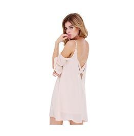 Strap Off Shoulder Backless Mini Dress