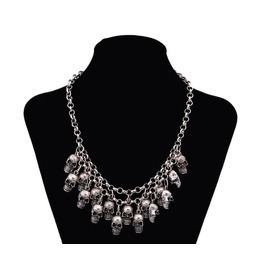 Silver/Gold Skull Statement Punk Necklace