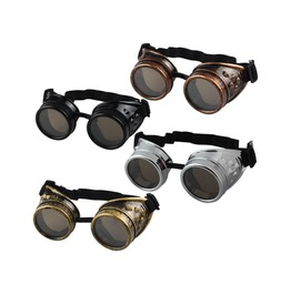 Black/White/Red/Yellow Unisex Steampunk Goggles