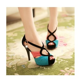 Multi Color High Heel Party Shoes