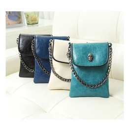 Skull Rivet Faux Leather Punk Shoulder Bag