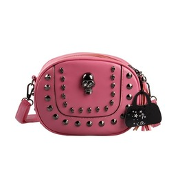 Faux Leather Rivet Skull Punk Bags