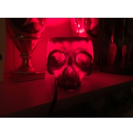 Igearz Steampunk Human Skull Lamp Life Like Life Sized Creepy Goth Red