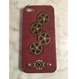 Igearz Steampunk Apple Iphone 5, 5s, Se Case Cover Gears Turn Brass Vent