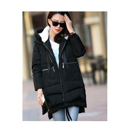 4 Colors Hooded Zip Women Winter Coat Plus Sizes
