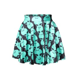 Aliens Printed Summer Skirt