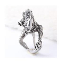 Stainless Steel Alien Ring