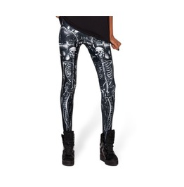 Mechanical Skeletons Printed Leggings