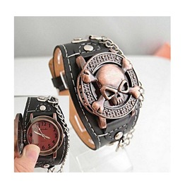 Skull Cover Analog Watch