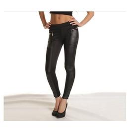 Leather Looking Black Leggings