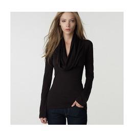 Black/Gray V Neck Long Sleeve Slim Blouse