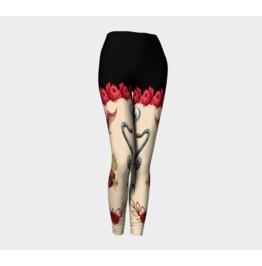 Black Shorts With Nude Legs, Skulls, Snakes, Sacred Heart Leggings