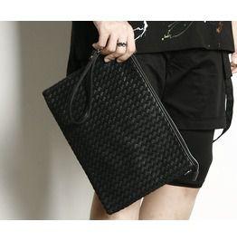 Twist Leather Modern Clutch Bag/Unisex/Men's/Cross/Rememberclick