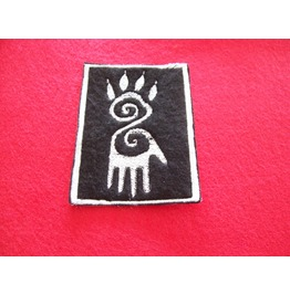 Embroidered African Tribal Shadow Blend Man/Wolf Sew On Patch Badge