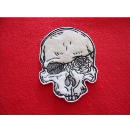Embroidered Goth Romantic Skull Patch Badge Sew On