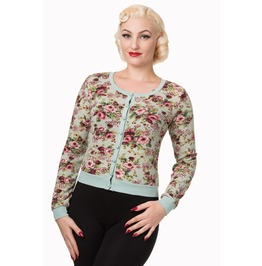 Banned Apparel Floral Cardigan Green, Pink, And Black