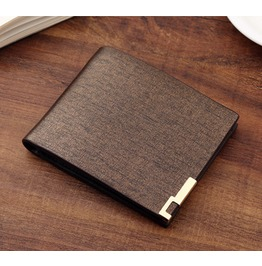 Business Men's Wallet Short Wallet Card Package Male Fashion Brown