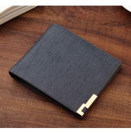 Business Men's Wallet Short Wallet Card Package Male Fashion Blue