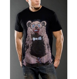 New Men Graphic Bloody Bear Cotton T Shirt Graphic Size M