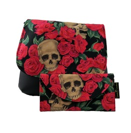 Skulls In Roses Red Kelsi Ii Cross Body Purse With Wallet