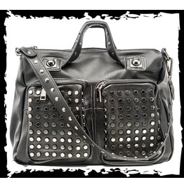 Black Goth Studded Fetish Purse Pleather Punk Handbag Visual Kei $9 To Ship