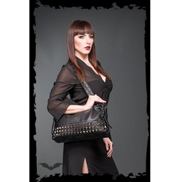 Black Goth Pyramid Stud Fetish Purse Pleather Punk Shoulder Bag $9 To Ship