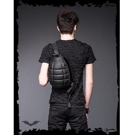 Mens Grenade Punk Goth Metal Industrial Black Back Pack