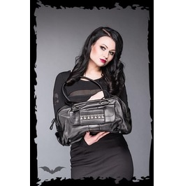 Black Goth Pyramid Studded Fetish Purse Pleather Punk Shoulder Hand Bag