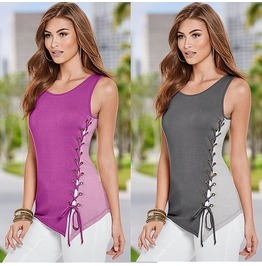 Summer Tank Vest Loose Casual Blouse Tops T Shirt