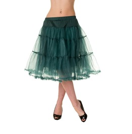 Banned Apparel Petticoat Skirt Green And Red