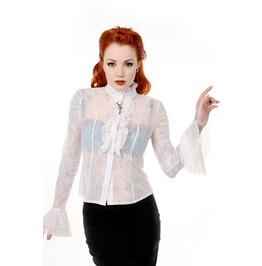 Banned Apparel Gothic Key Lace Shirt