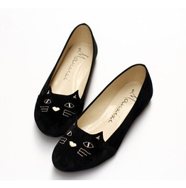 Cute Cat Women Flats Animal Shoes B17
