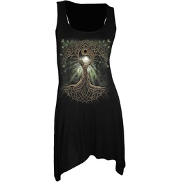 New Women Goth Bottom Camisole Dress Black