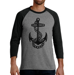 "Men's Tri Blend ""Sink Or Swim"" Raglan"