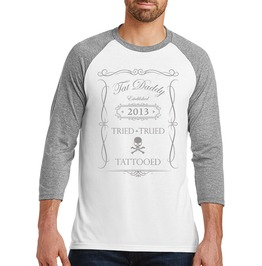 "Men's Tri Blend ""Tried Trued Tattooed"" Raglan"