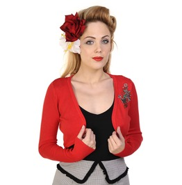 Banned Apparel Anchor Bolero Red And Black