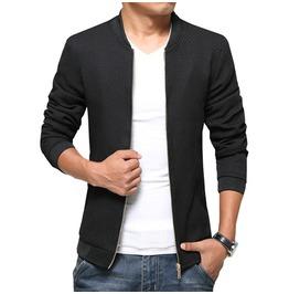 Men's Black Blue Spring Autumn Long Sleeve Jacket