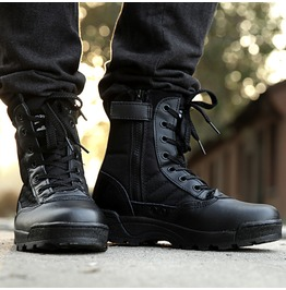 Men's Retro Combat Winter Boots