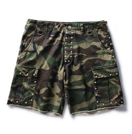 Mens Camo Shorts With Studs
