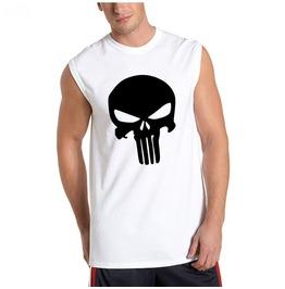 Men's Casual Cotton Skull Printed Tank Top