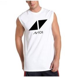 Men's Casual Cotton Avioii Printed Tank Top