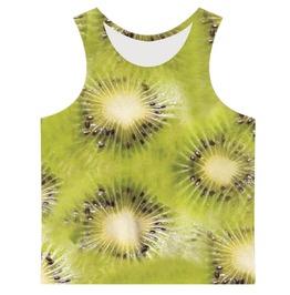 Men's Kiwi Slices Printed Tank Top