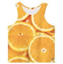 Men's Orange Slices Printed Tank Top
