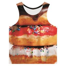 Men's Donuts Printed Tank Top