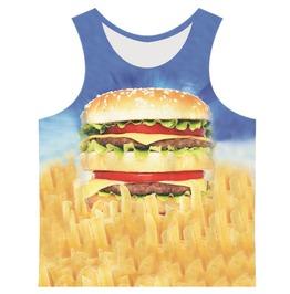 Men's Hamburger Printed Tank Top