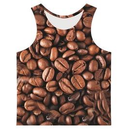 Men's Coffee Beans Printed Tank Top