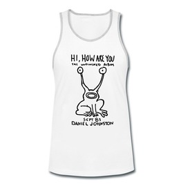 Men's Hi How Are You Unfinished Album Printed Tank Top