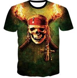 Steampunk Skull Head T Shirt D2