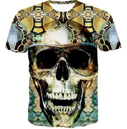 Steampunk Skull Head T Shirt D3